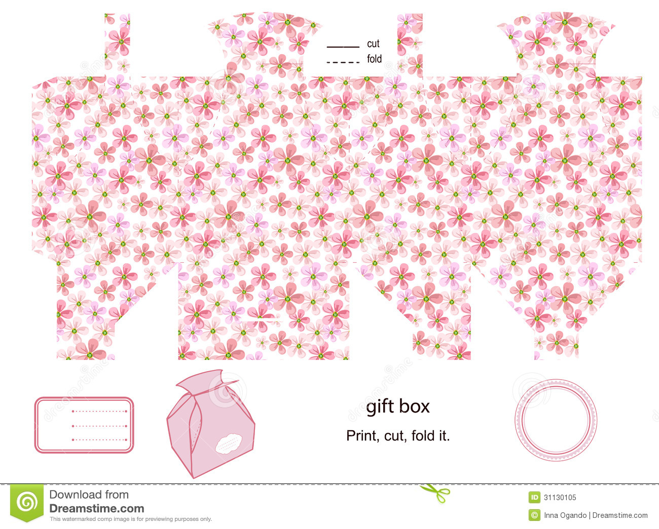 Gift Box Template Stock Vector Illustration Of Packaging