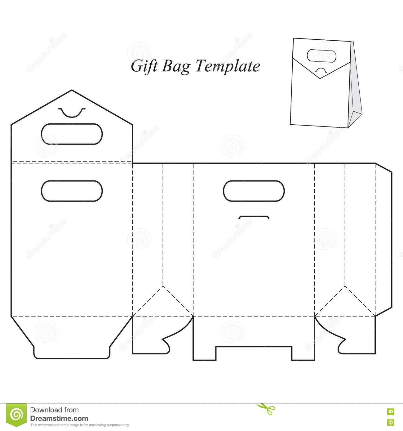 Gift Box Template With Lid