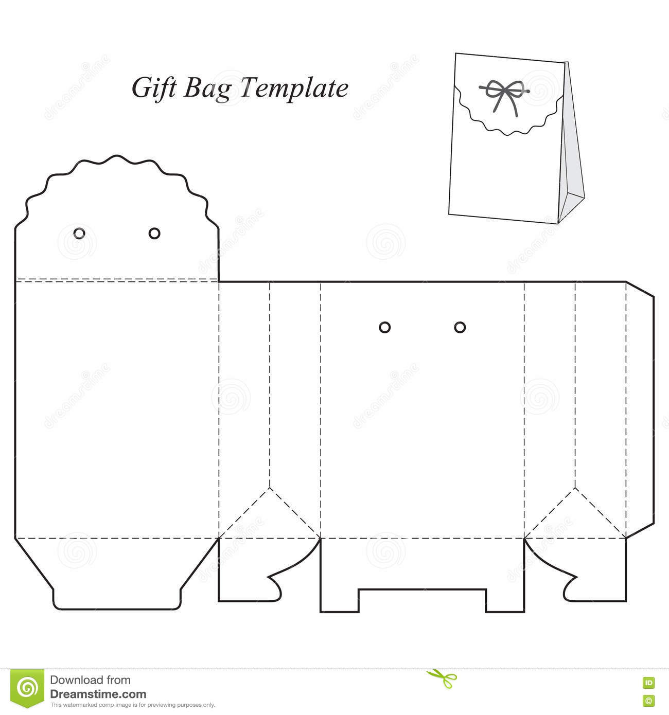 gift box template with lid stock vector illustration of object
