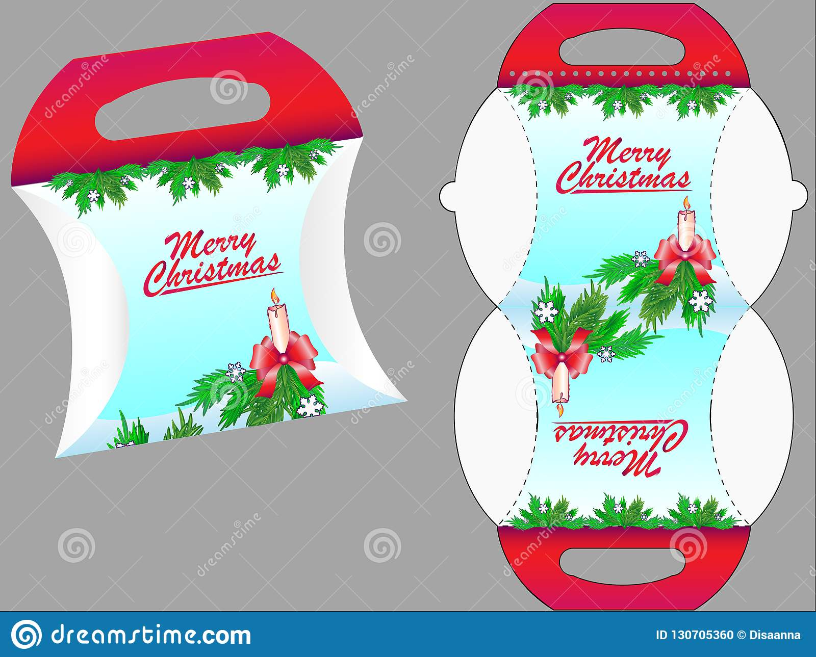 Gift box. Gift box template for sweets or other christmas gifts.