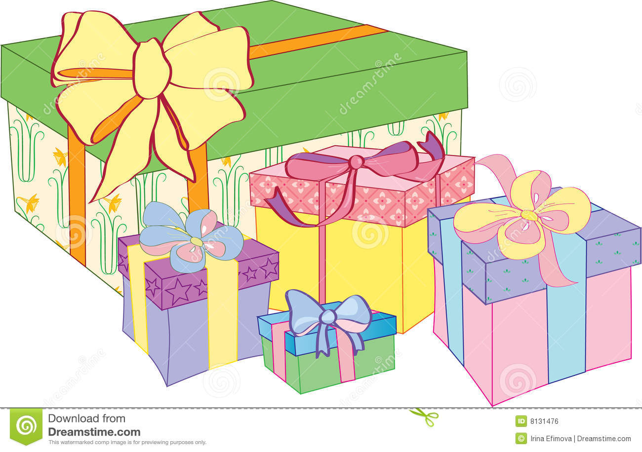 Gift boxes stock vector illustration of colored present 8131476 gift boxes negle Gallery