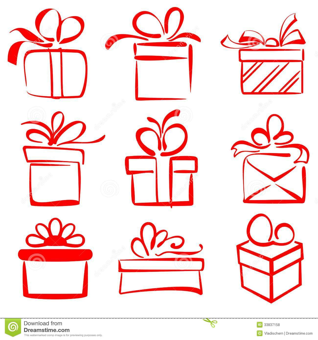 Gift Boxes Icon Set Sketch Vector Illustration Stock Vector Illustration Of Occasion Birthday 33837158