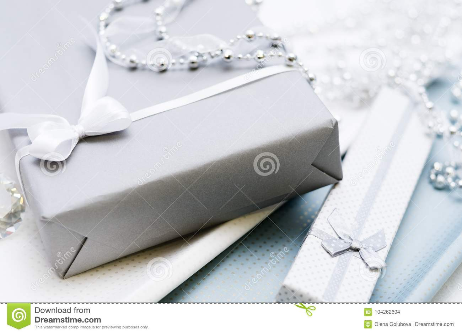 Gift Box Woman Elegant Jewelry Present Stock Photo Image Of
