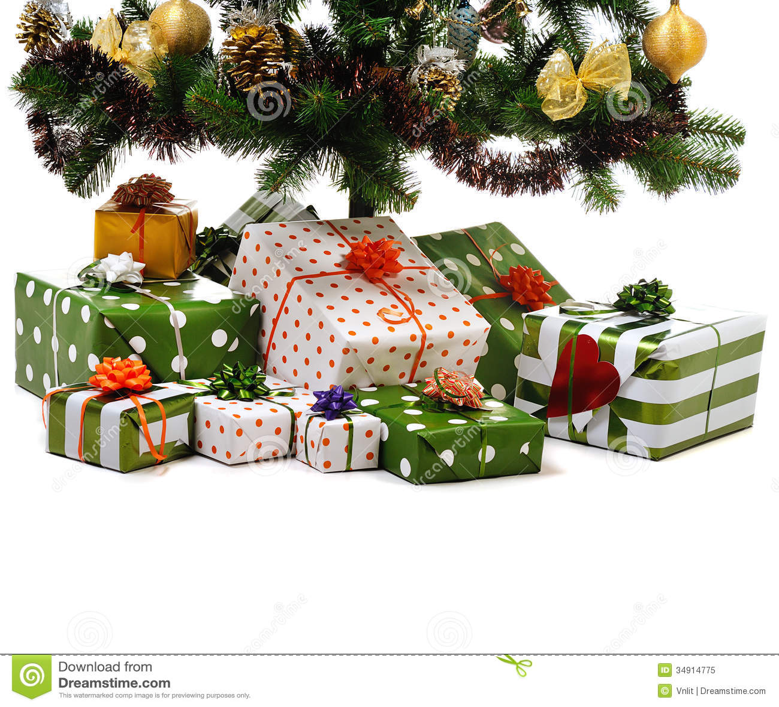 Gift Boxes Under Christmas Tree Royalty Free Stock Photo - Image ...