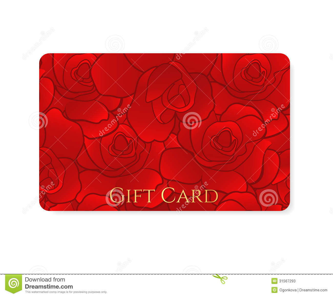 Gift Card Discount Card Business Card Flower Stock