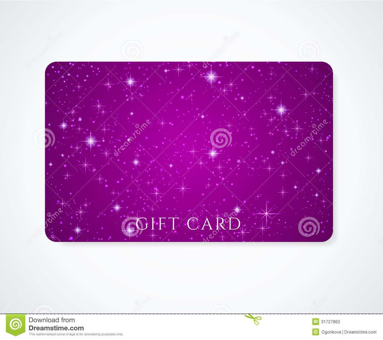 gift card discount card business card stars stock vector