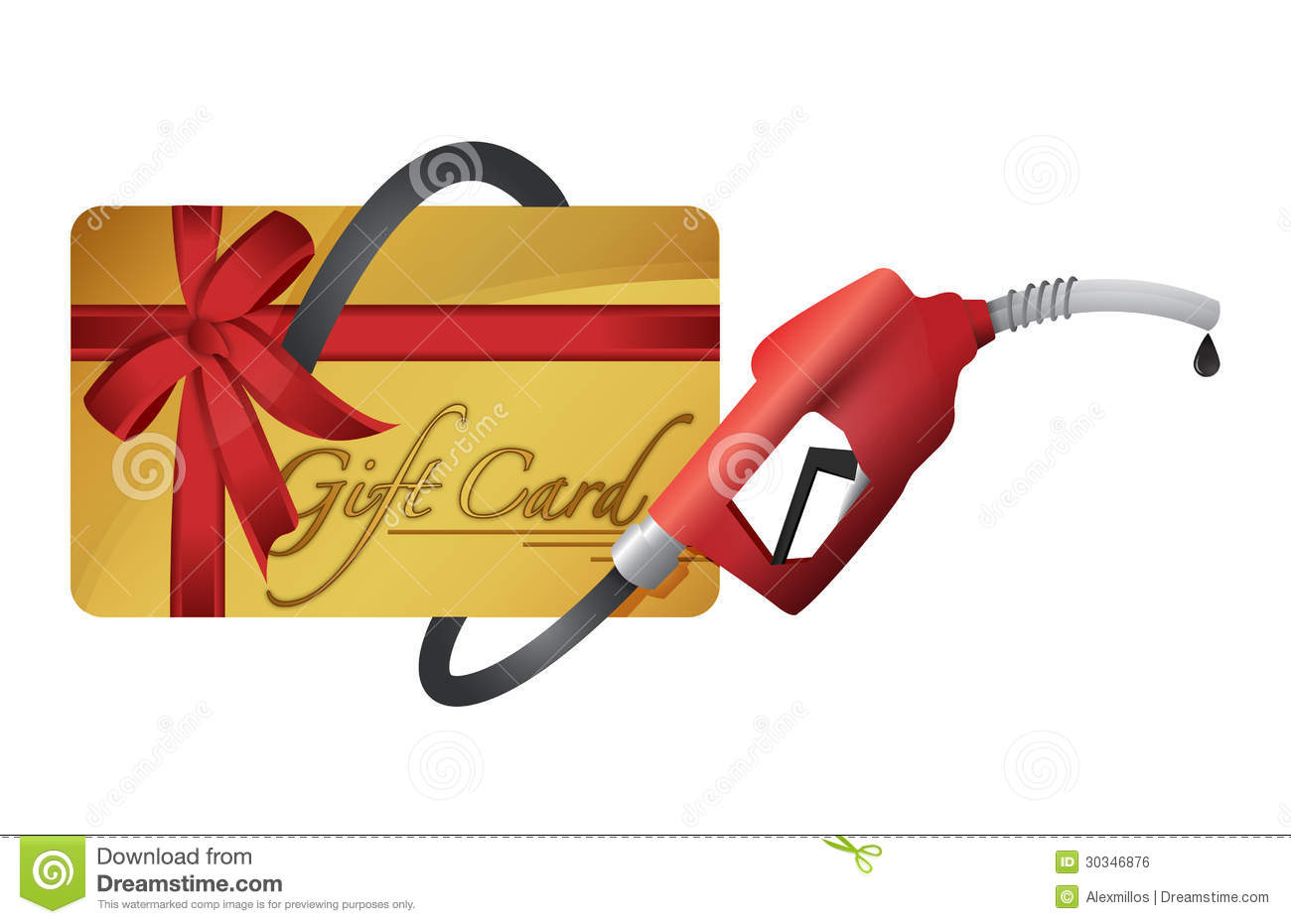 Gift card with a gas pump nozzle royalty free stock image image royalty free stock photo download gift card negle Gallery