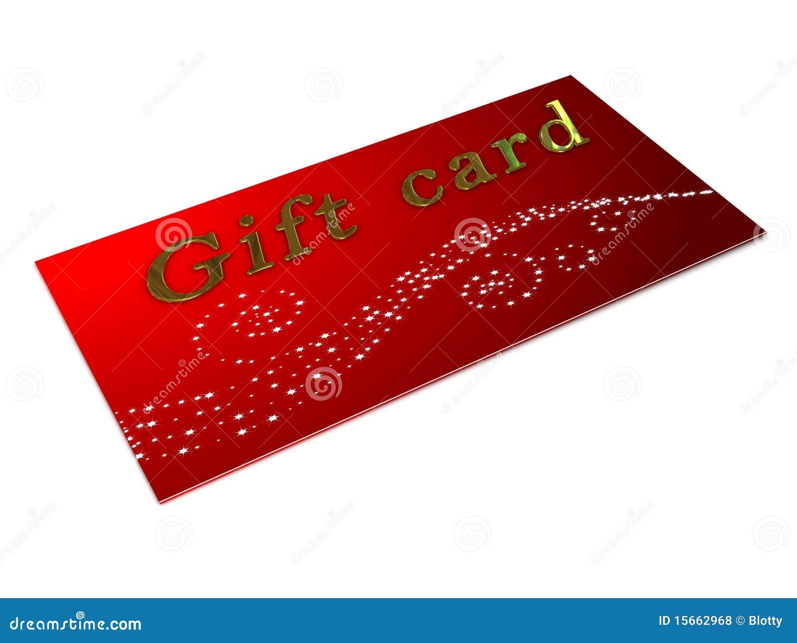 gift card over white background stock illustration