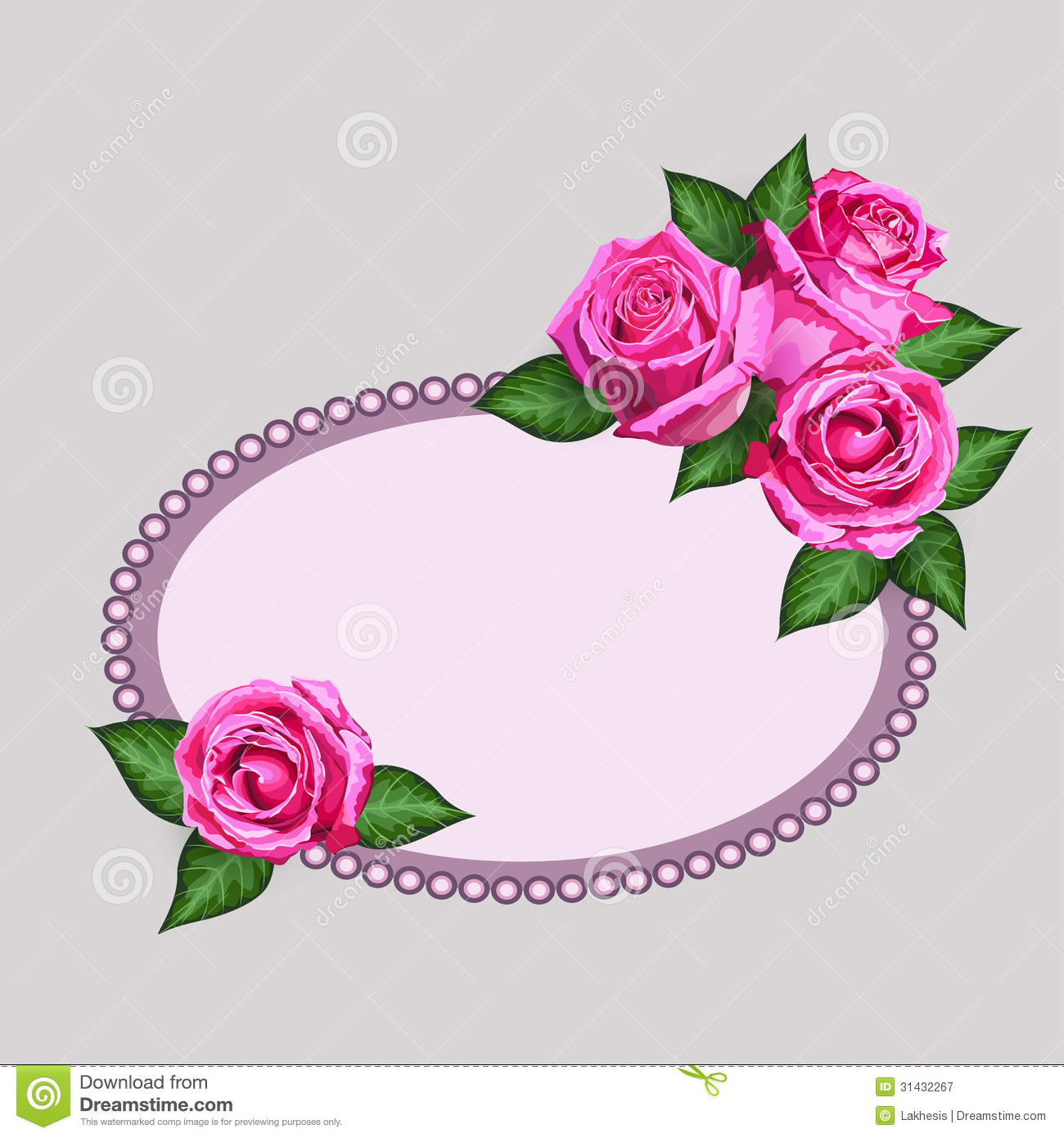 comment on this picture flower floral frame border stock vector