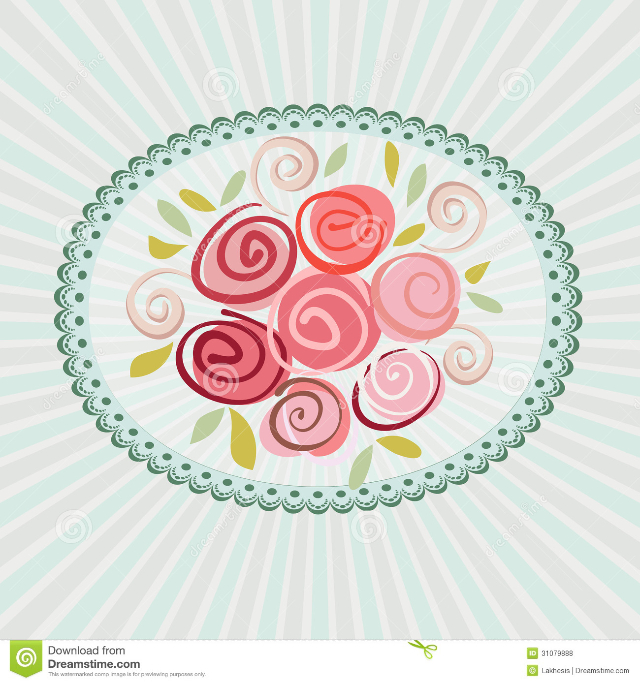 Gift Card With Roses Flowers Royalty Free Stock Photos - Image ...