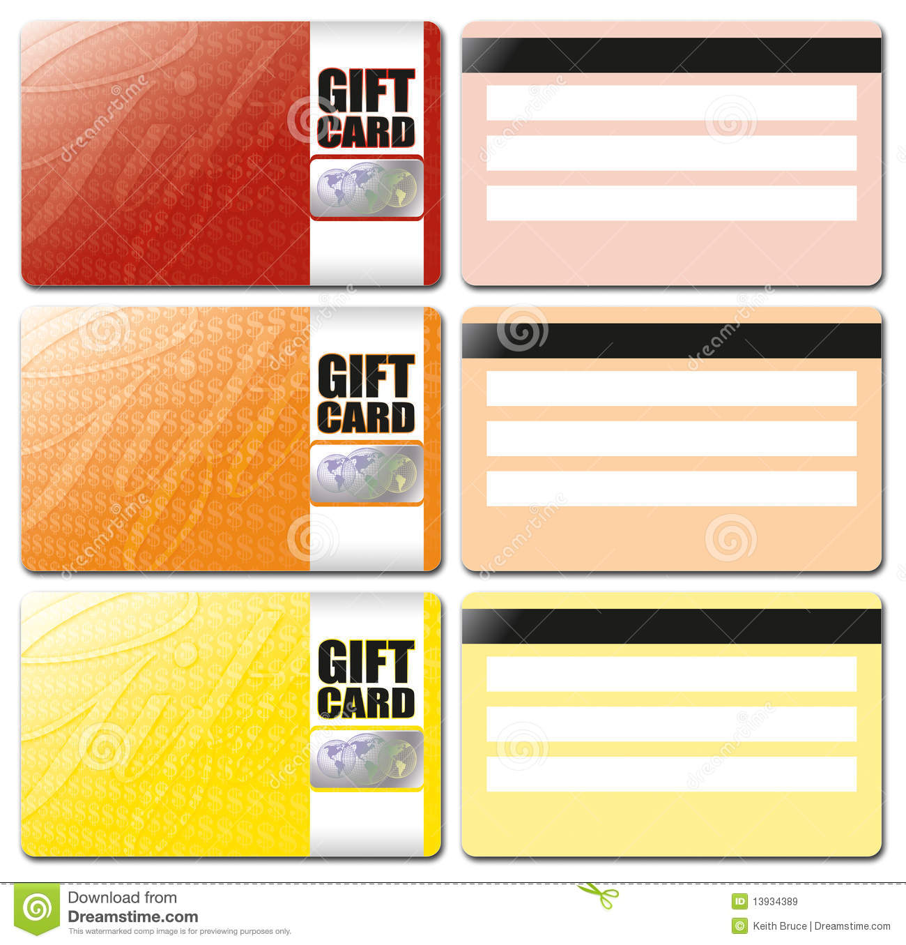 Gift Card Template Set 1 Royalty Free Stock Images - Image ...