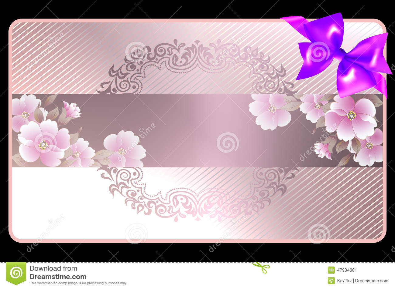 Wedding Gift Cards Online: Gift Card. Stock Illustration