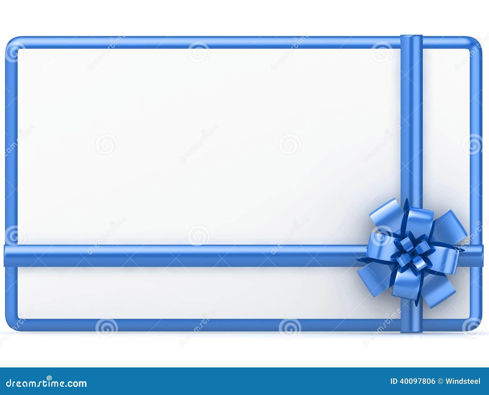 gift card on white background stock illustration