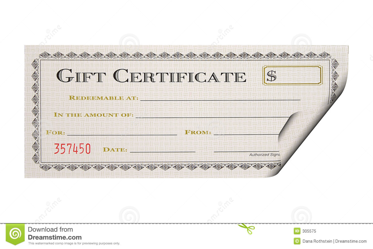 Gift Certificate Royalty Free Stock Photo Image 305575