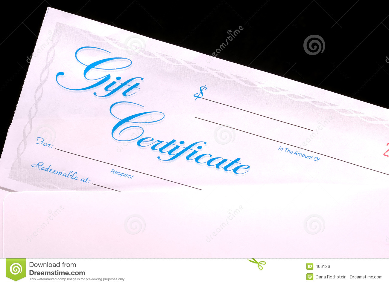 Gift Certificate Stock Photo Image Of Certificate Check 406126