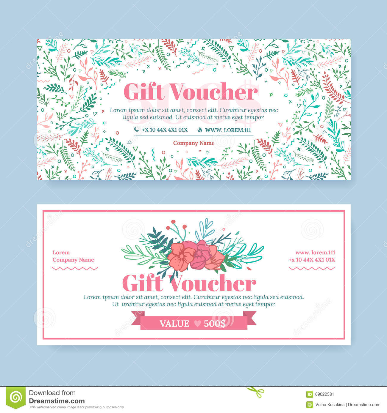Gift certificate with delicate painted flowers in boho style gift certificate with delicate painted flowers in boho style yelopaper Gallery