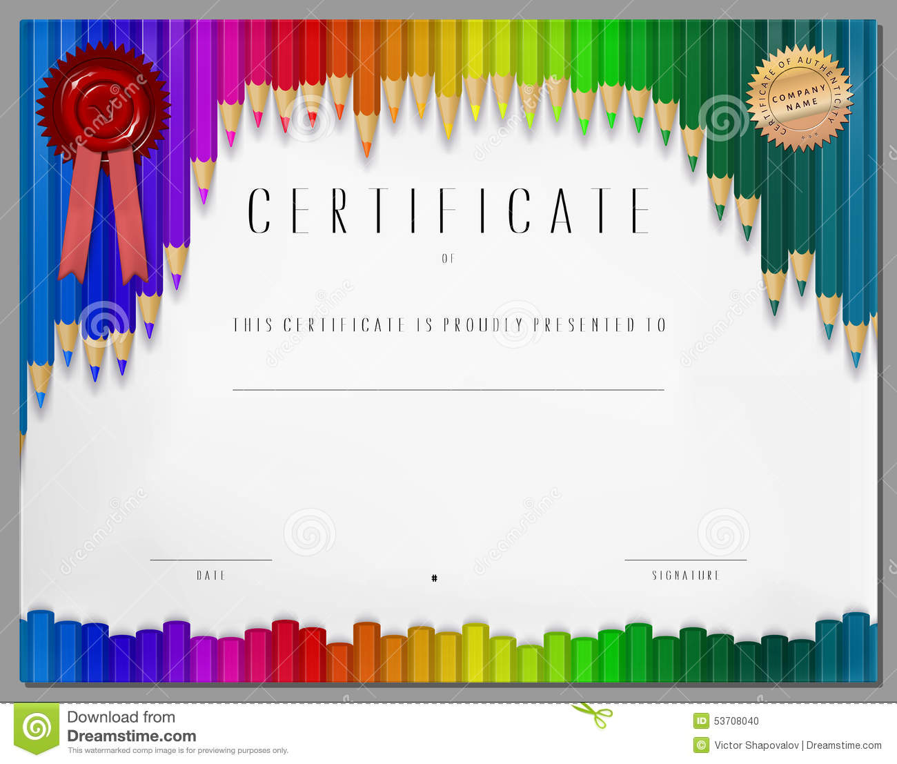 Gift Certificate Diploma Coupon Award Of Course