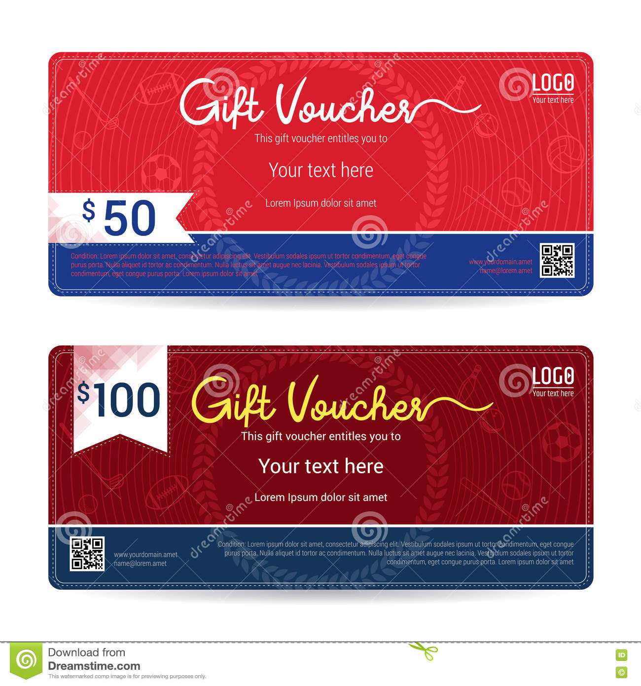 Gift Certificate Gift Voucher Gift Card Template In Sport Theme