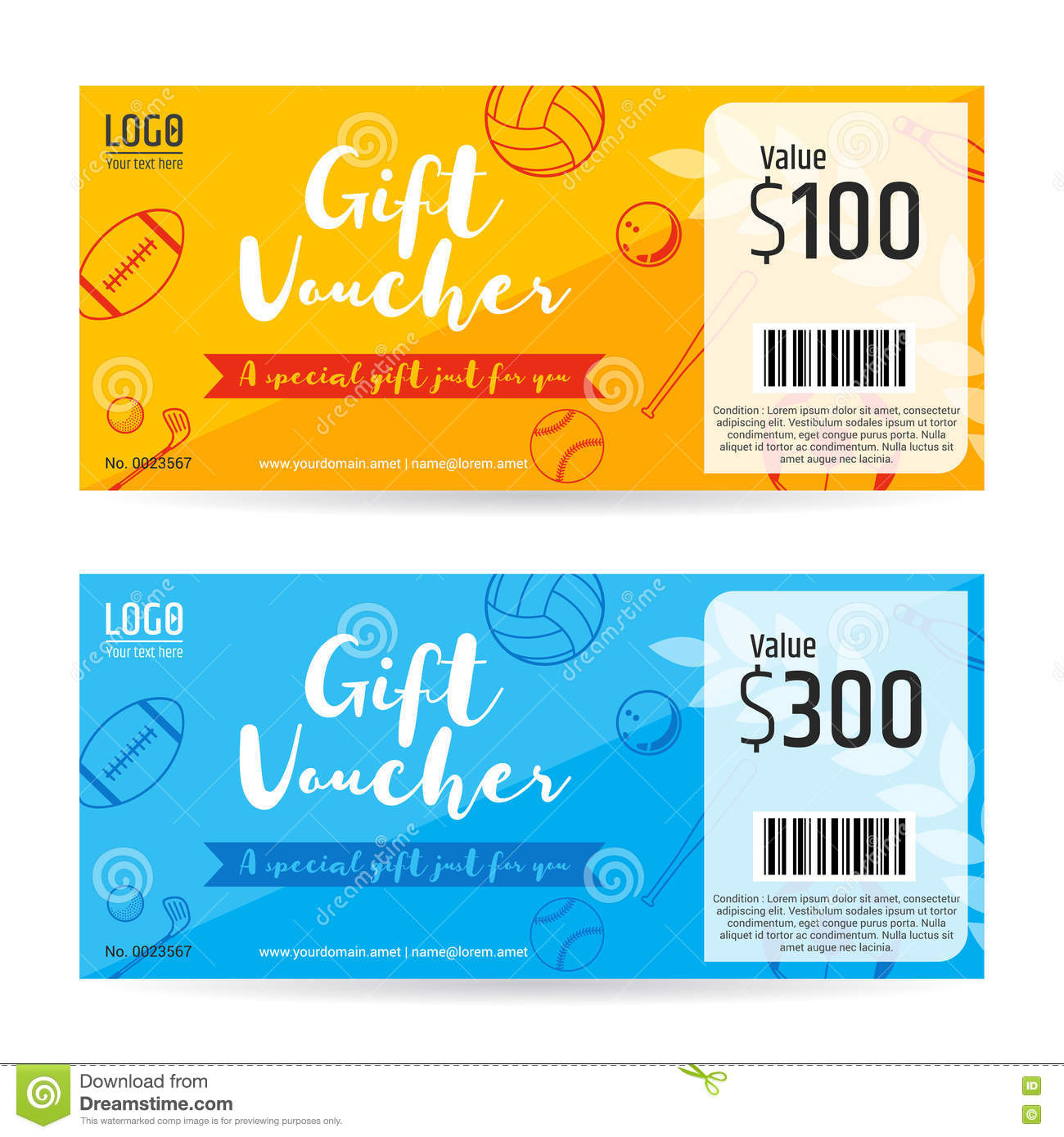 gift certificate gift voucher gift card template in sport theme gift certificate gift voucher gift card template in sport theme