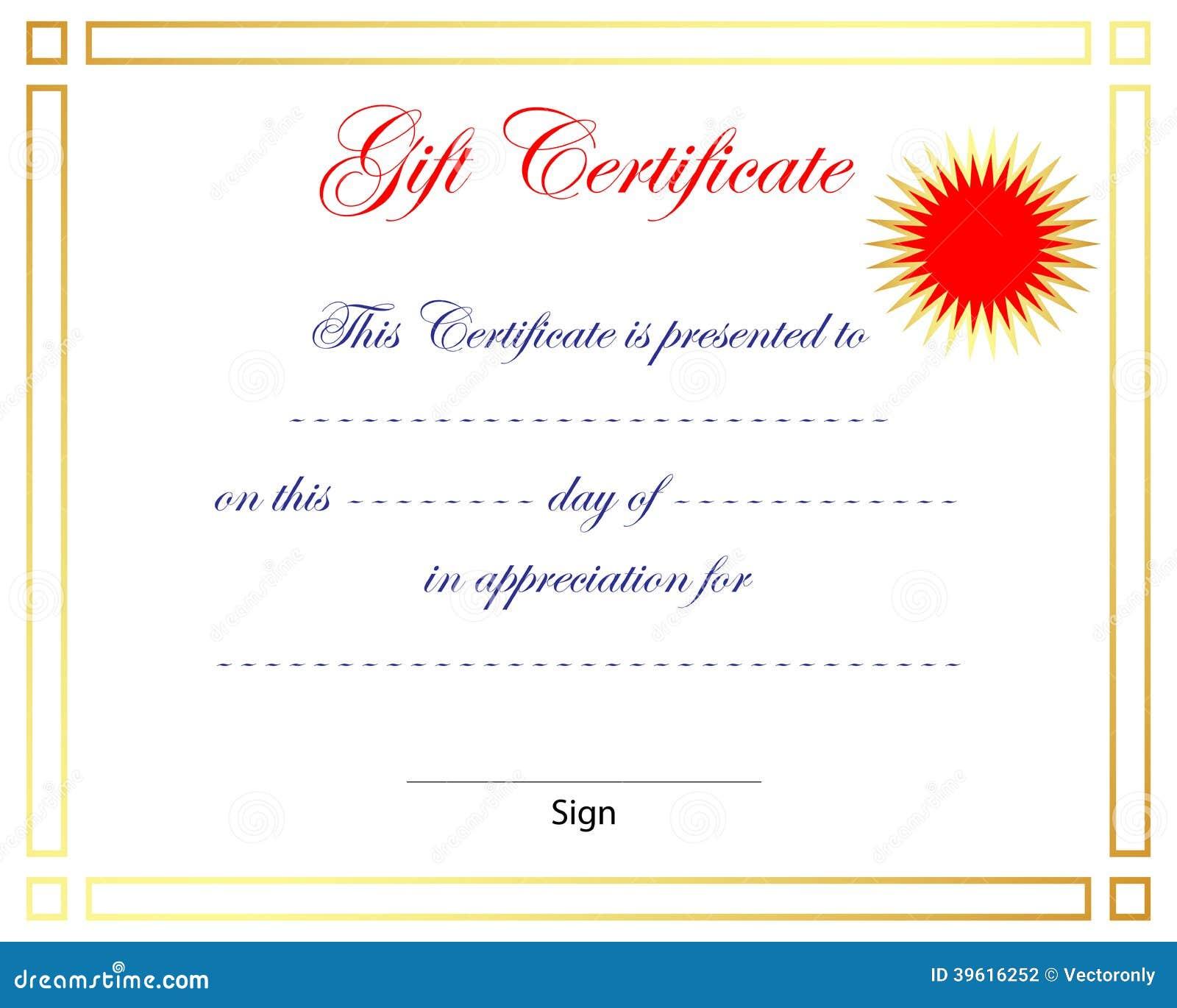 gift certificate stock vector  illustration of degree