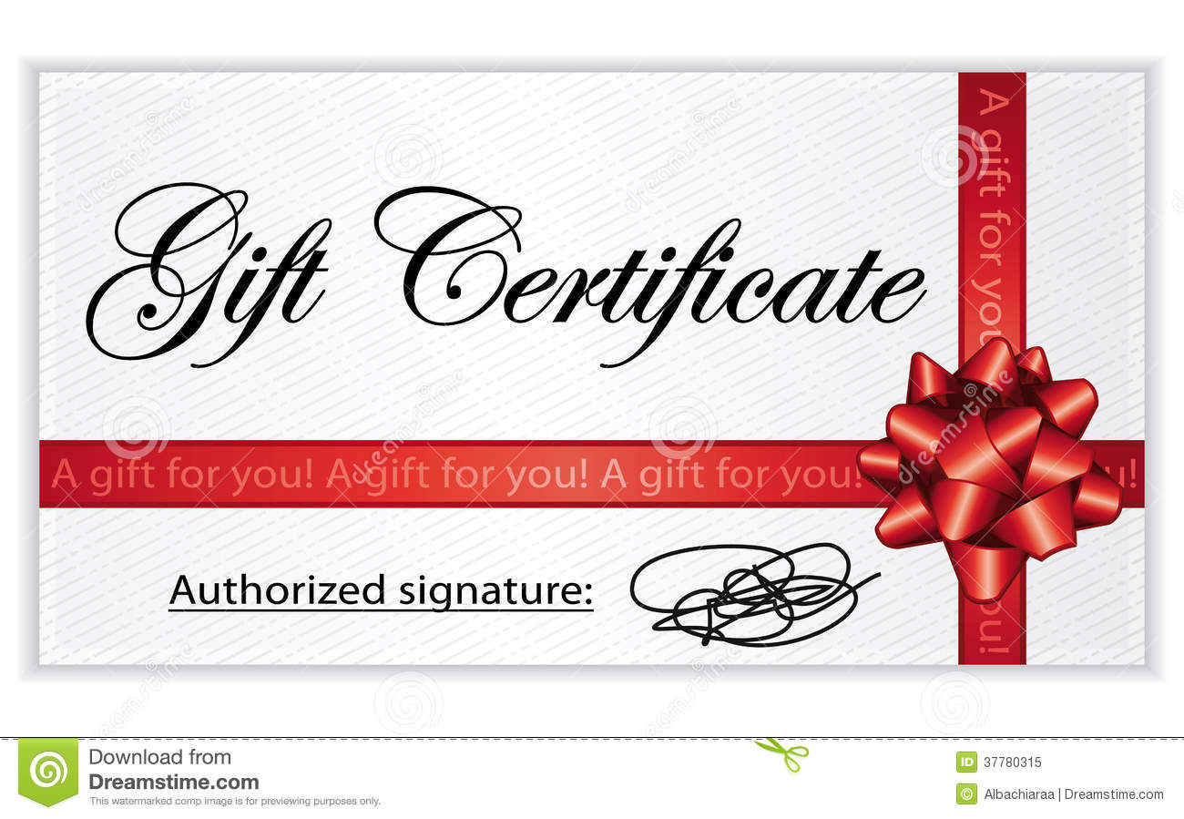 Gift Certificate. Royalty Free Stock Photo - Image: 37780315