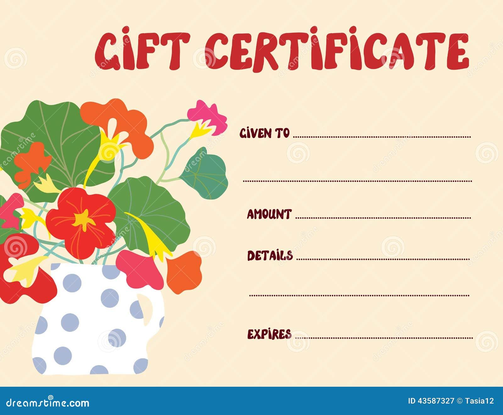fun gift certificate template