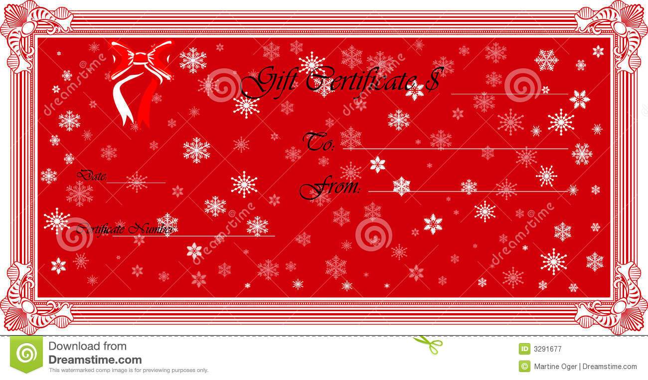 Gift Certificate Vector Stock Illustration Illustration Of