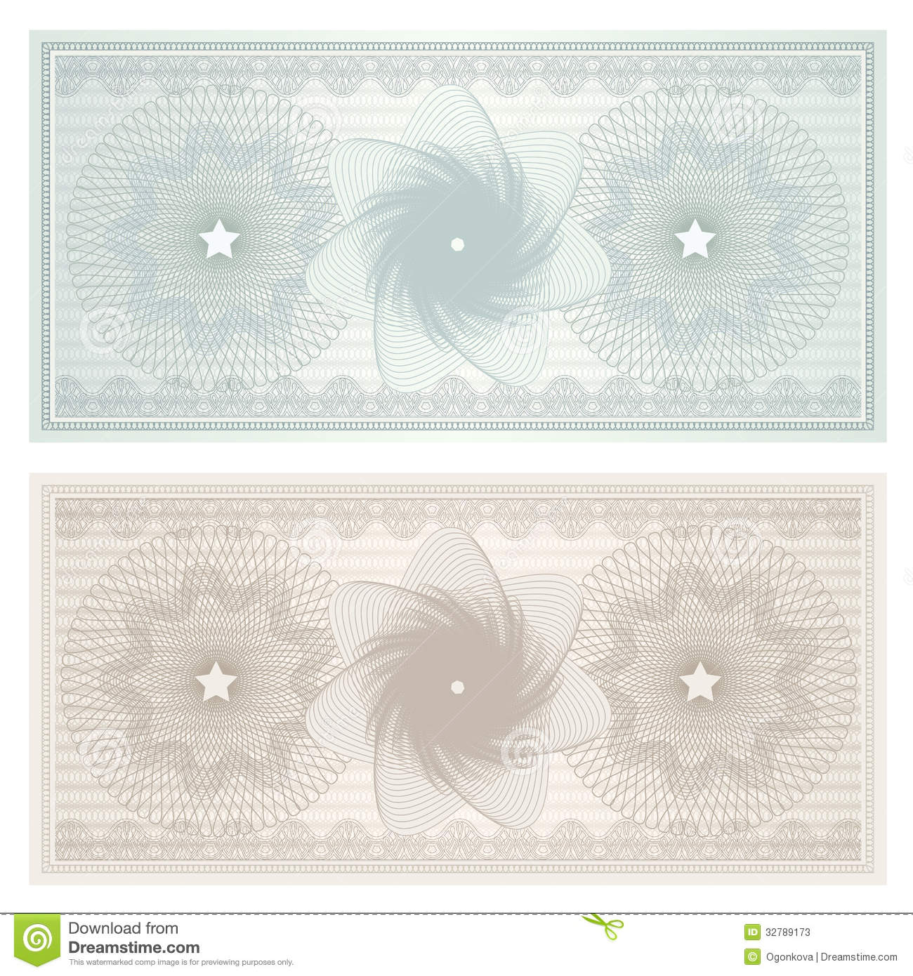 Gift certificate (Voucher, coupon). Pattern
