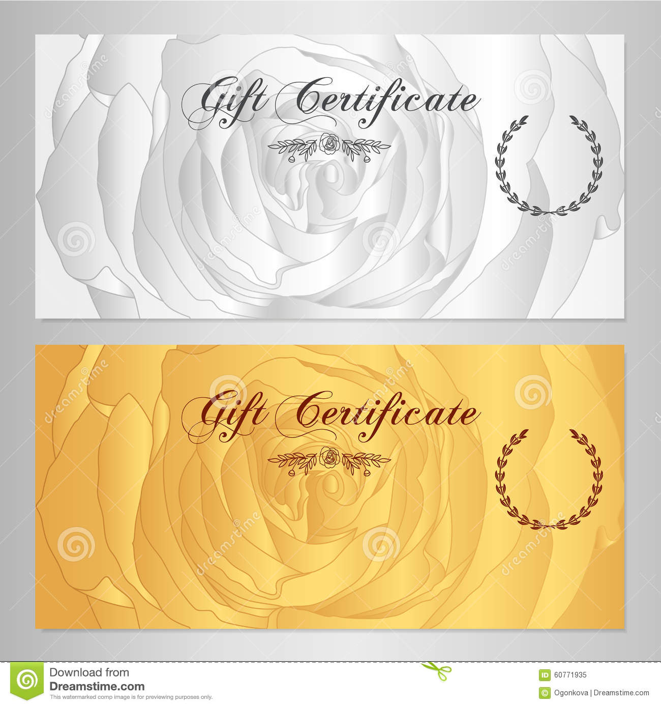 Gift Certificate Voucher Coupon Reward Gift Card Template With