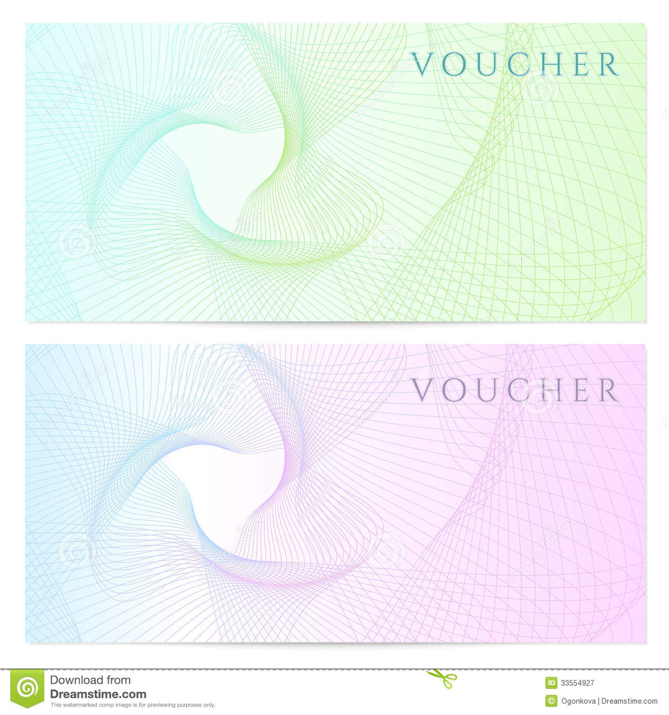 Gift certificate voucher coupon template color stock vector gift certificate voucher coupon template color xflitez Choice Image