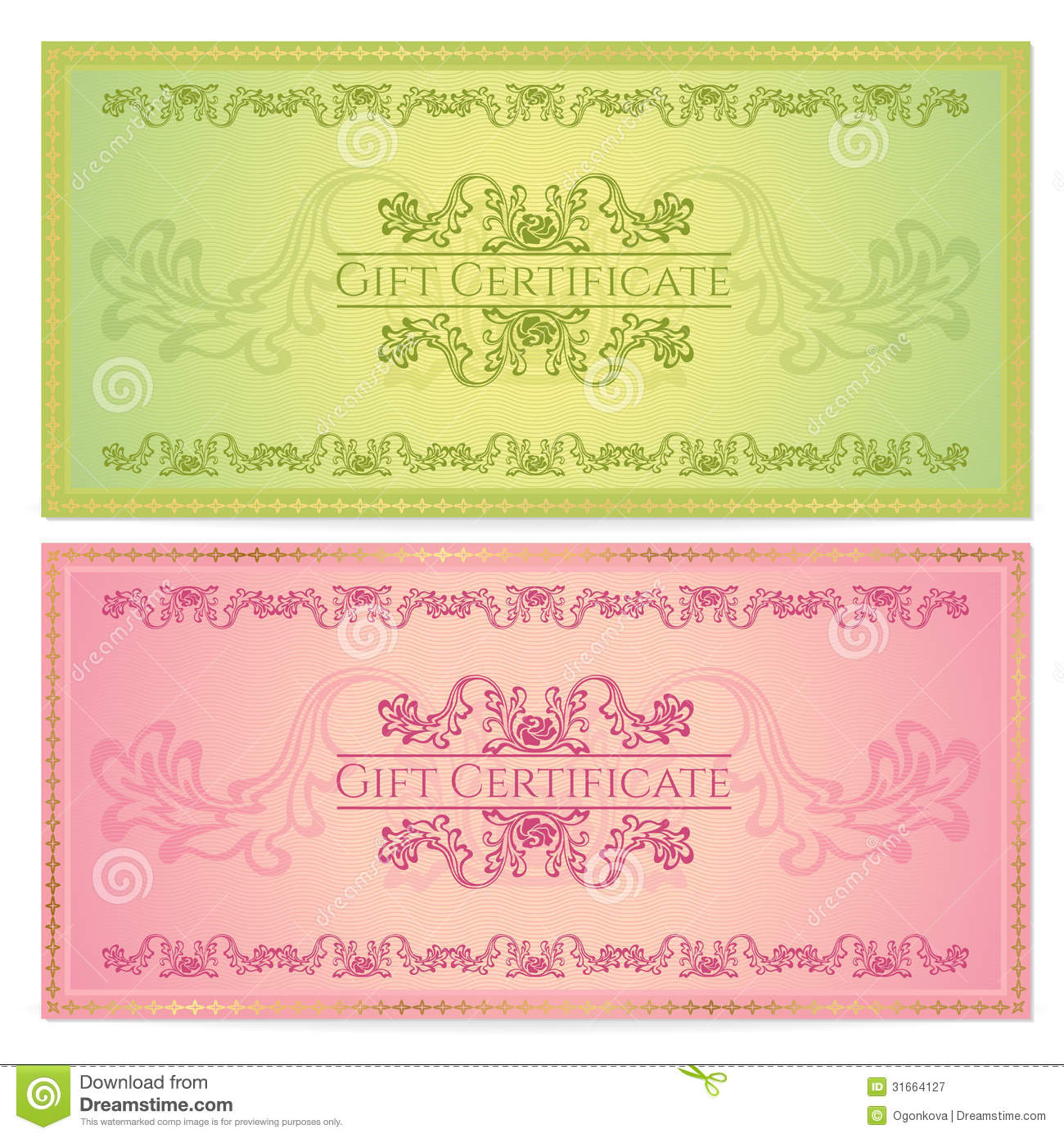 Gift certificate voucher coupon template stock vector gift certificate voucher coupon template royalty free stock photo 1betcityfo Images