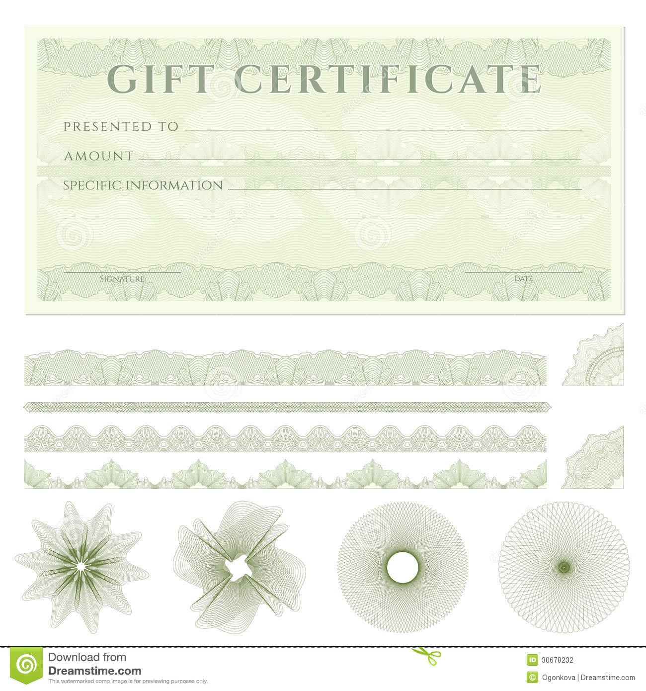Gift certificate voucher template with borders stock vector gift certificate voucher template with borders royalty free stock photo 1betcityfo Images