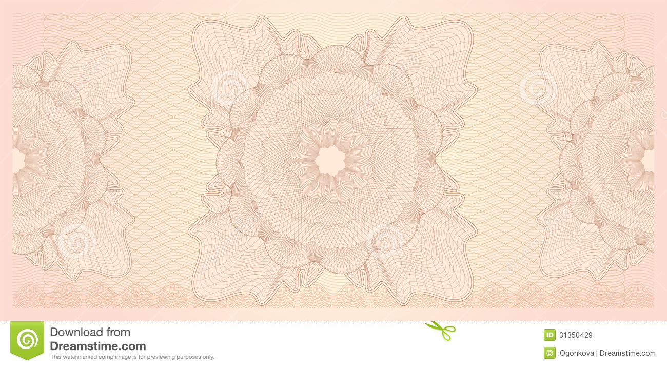 gift certificate  voucher  template  pattern stock vector