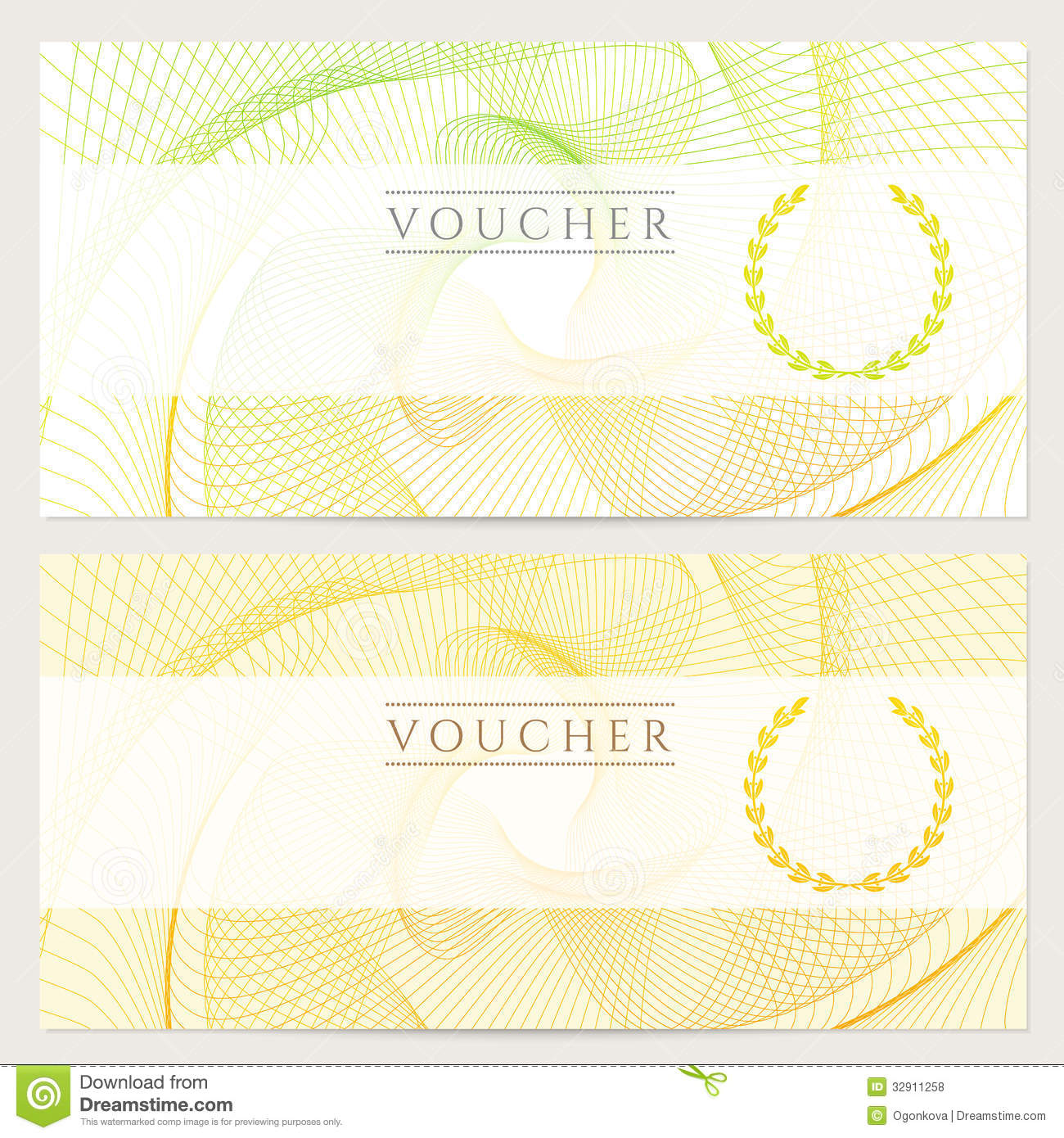 gift certificate voucher coupon template with colorful rainbow. Cars Review. Best American Auto & Cars Review