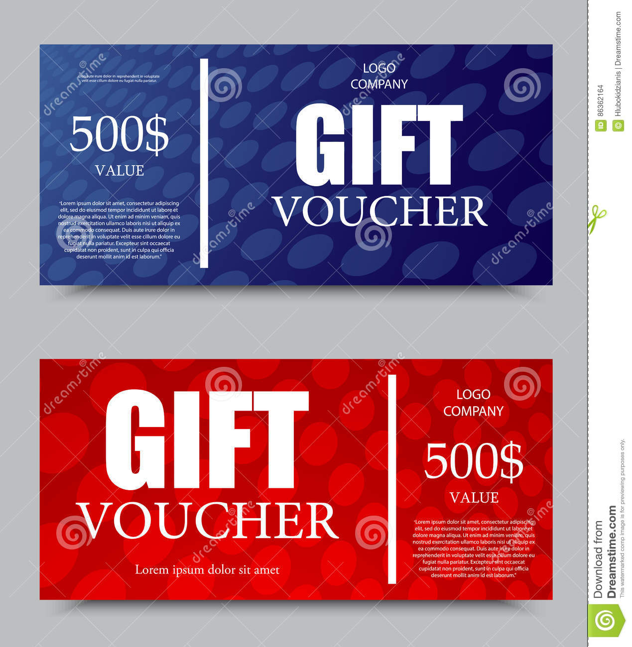 Gift company voucher template stock vector illustration of.