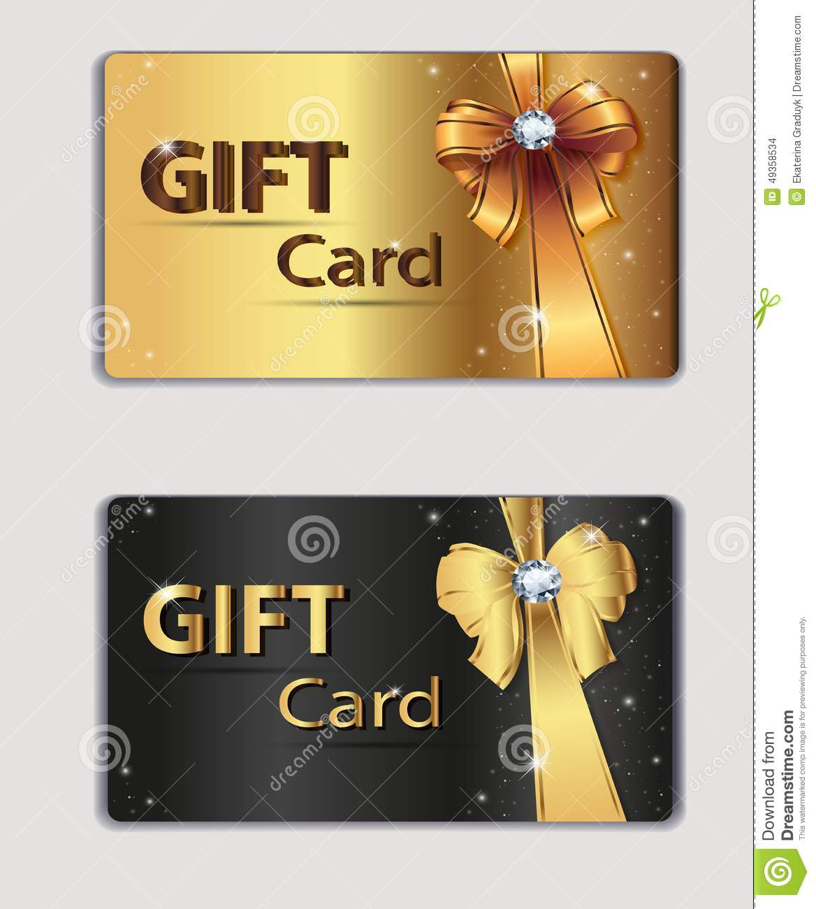 Gift Coupon, Gift Card, Discount Card, Business Stock Vector ...