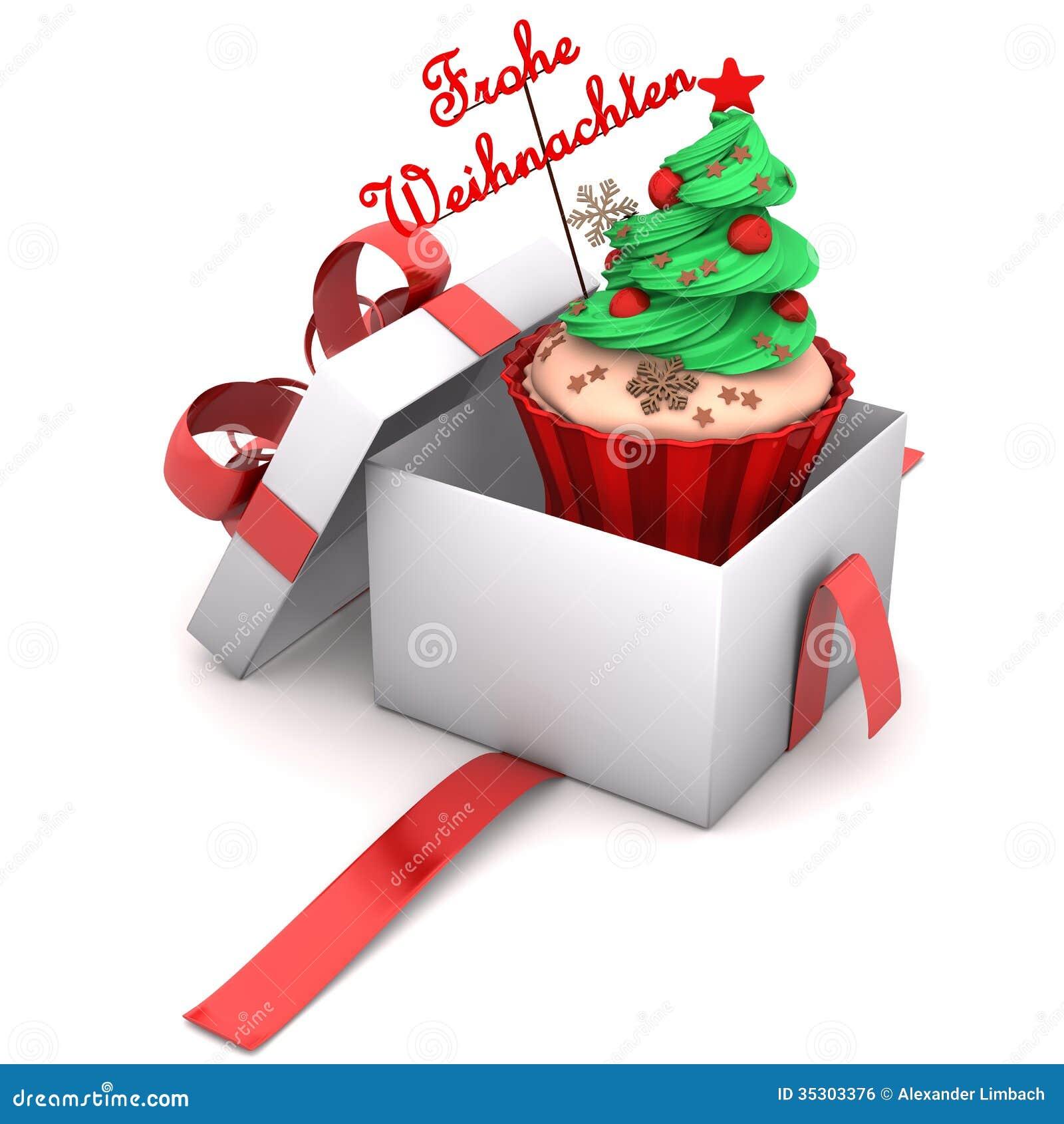 gift cupcake merry christmas stock illustration. Black Bedroom Furniture Sets. Home Design Ideas