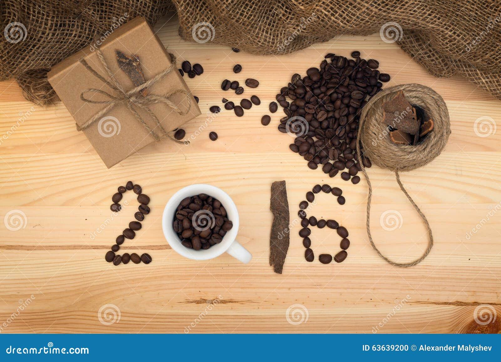 Gift en koffievieringscomposyion 2016 Nieuwjaar