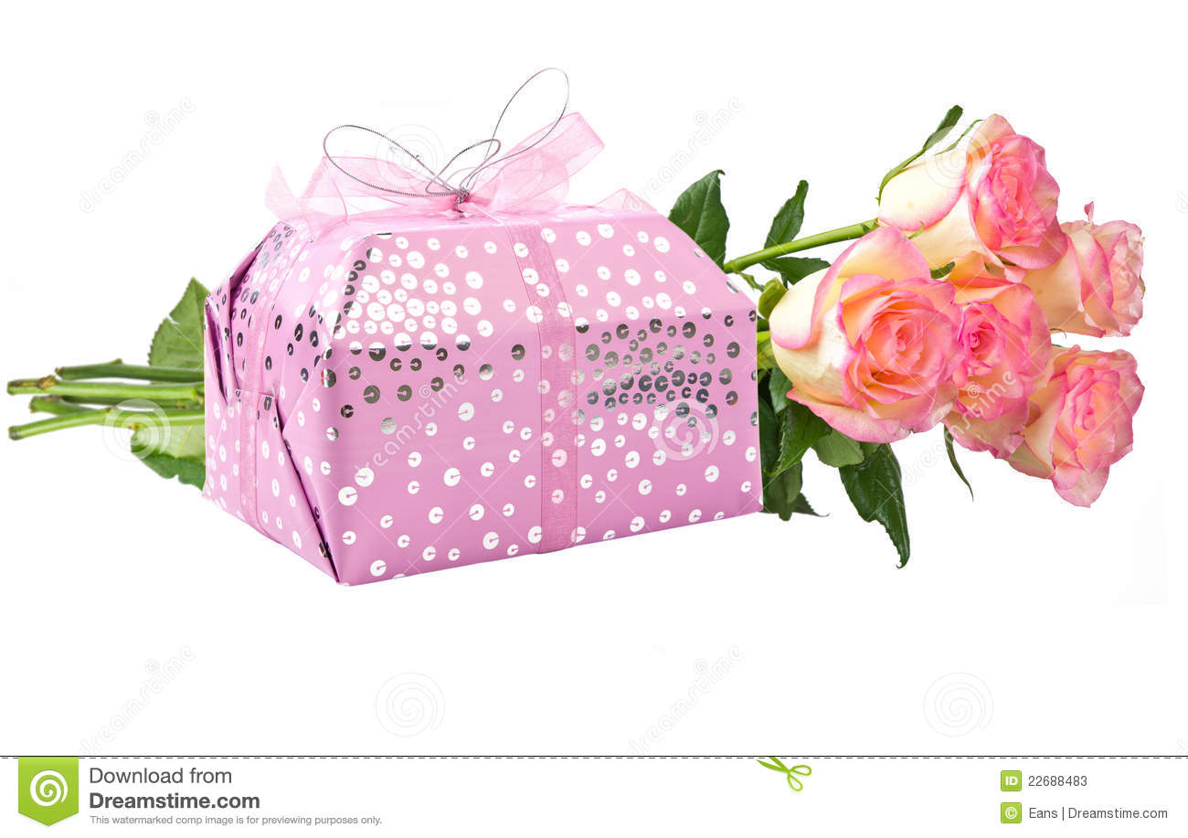 Gift and flowers stock image image of flower present 22688483 gift and flowers negle Gallery