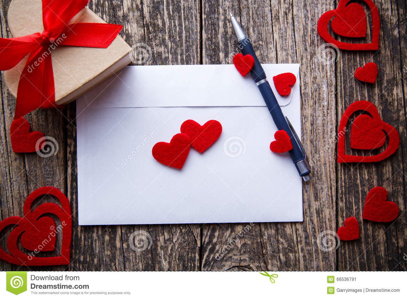 Gift For Girlfriend On Valentine S Day Stock Image Image Of Card