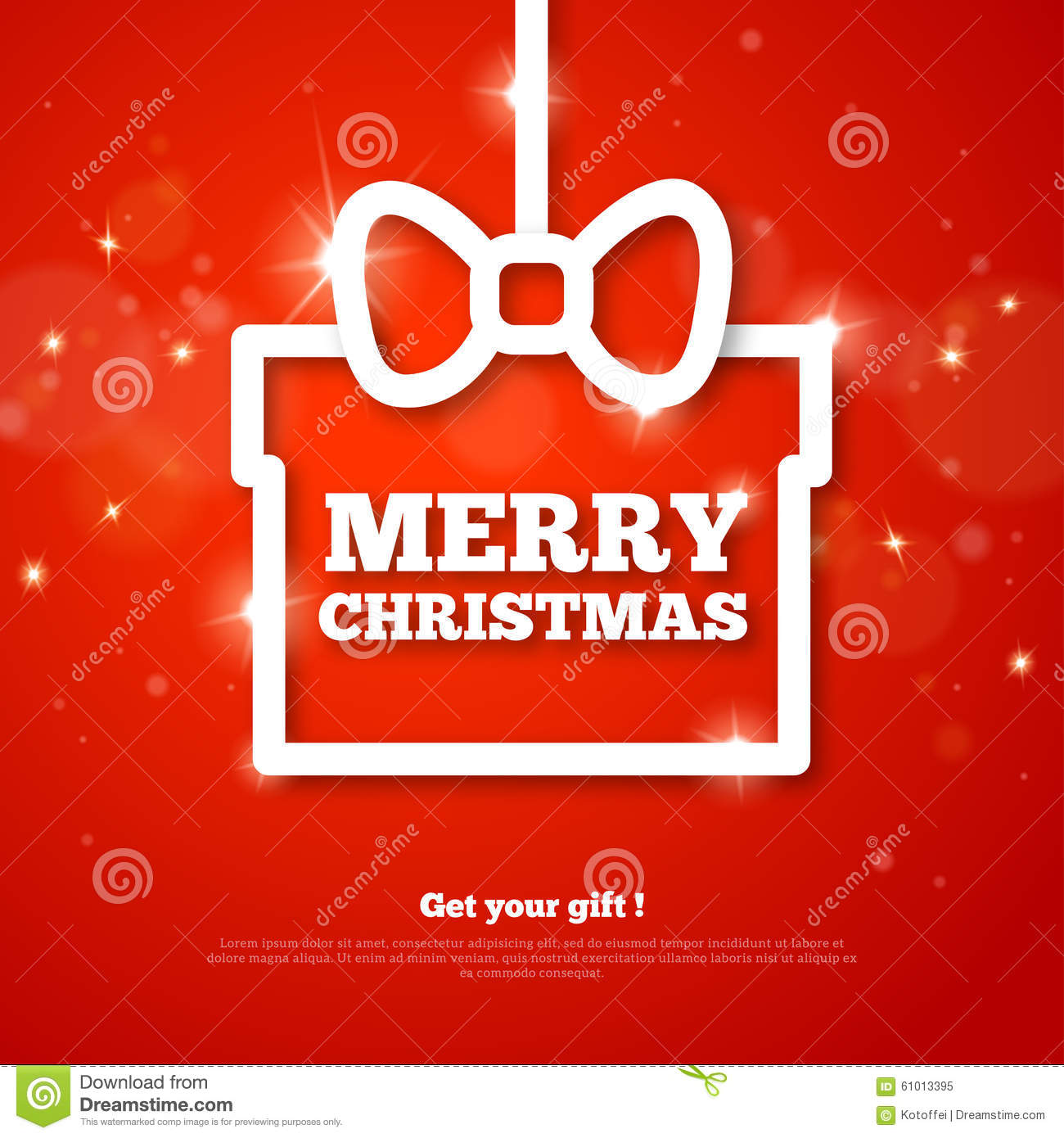 Gift With Merry Christmas Greetings Creative Frame Stock