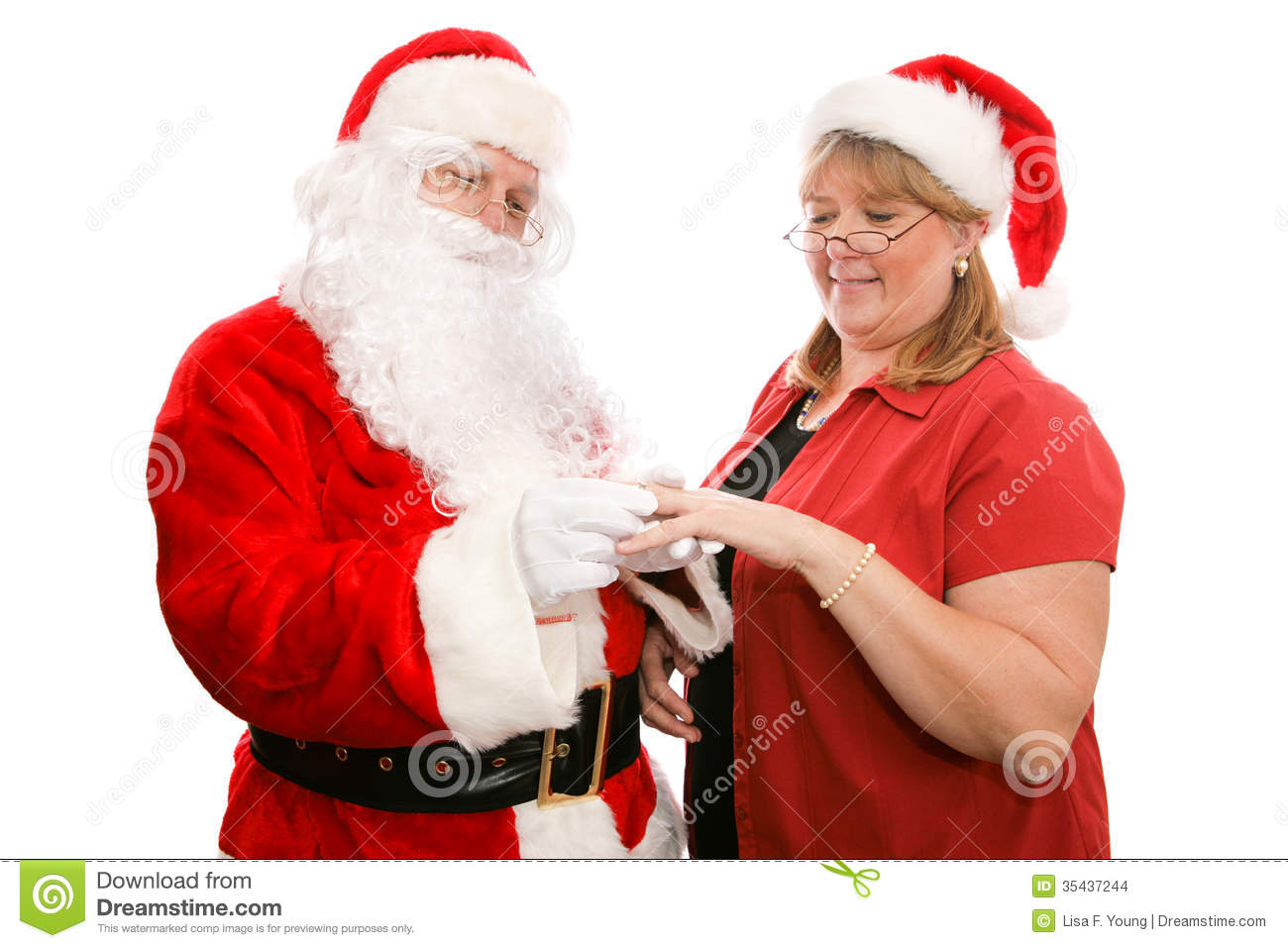 Gift For Mrs Santa Claus Stock Images Image 35437244