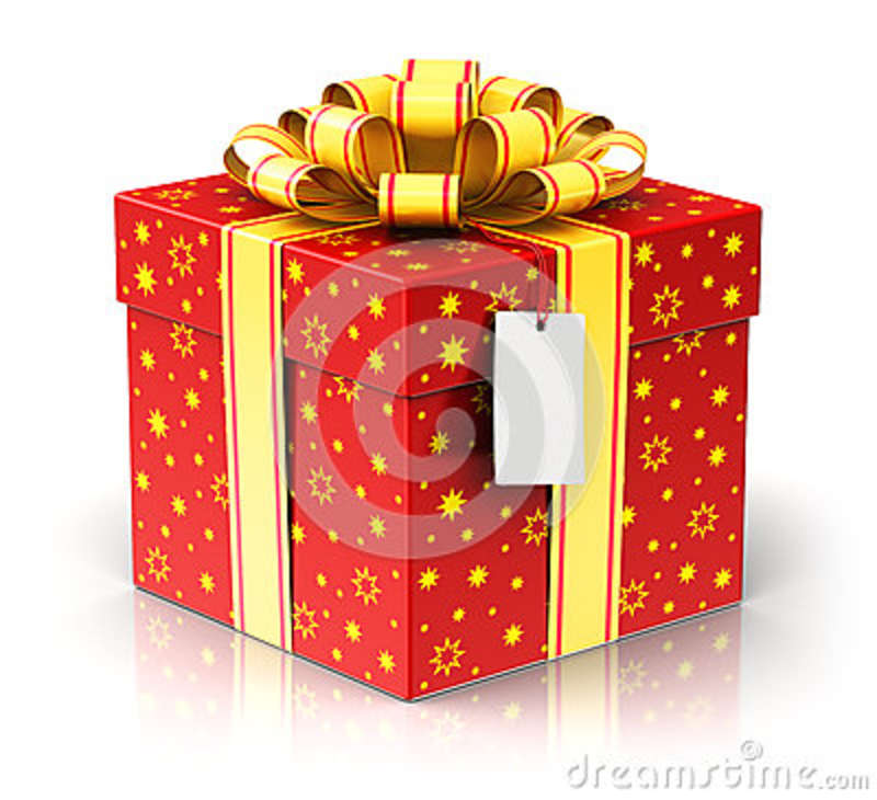 creative abstract christmas or xmas new year or birthday tradition celebration concept 3d render illustration of red color gift or present box container