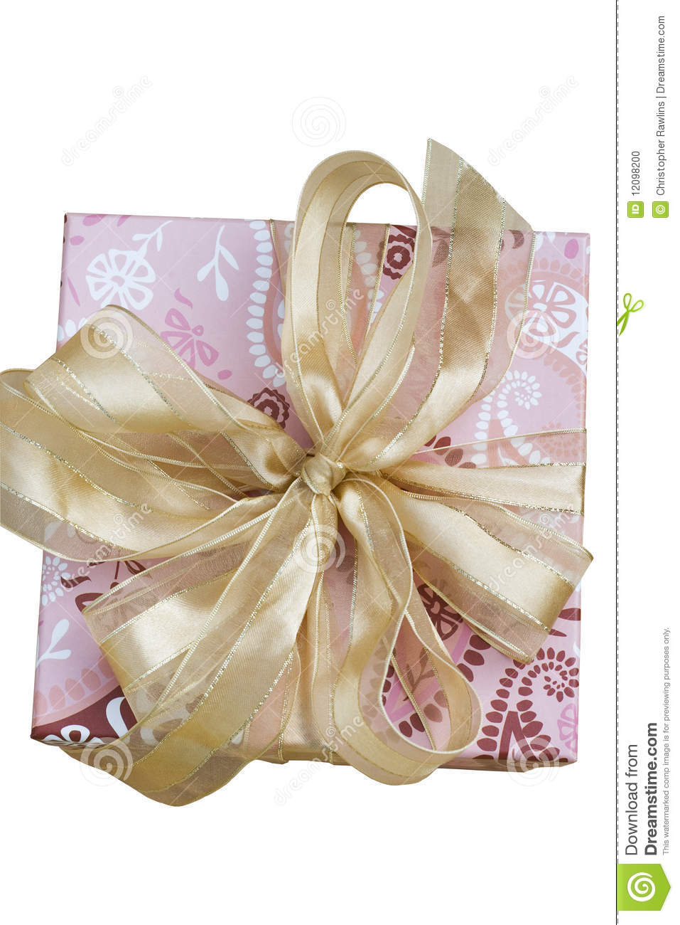 A Gift or Present on white background