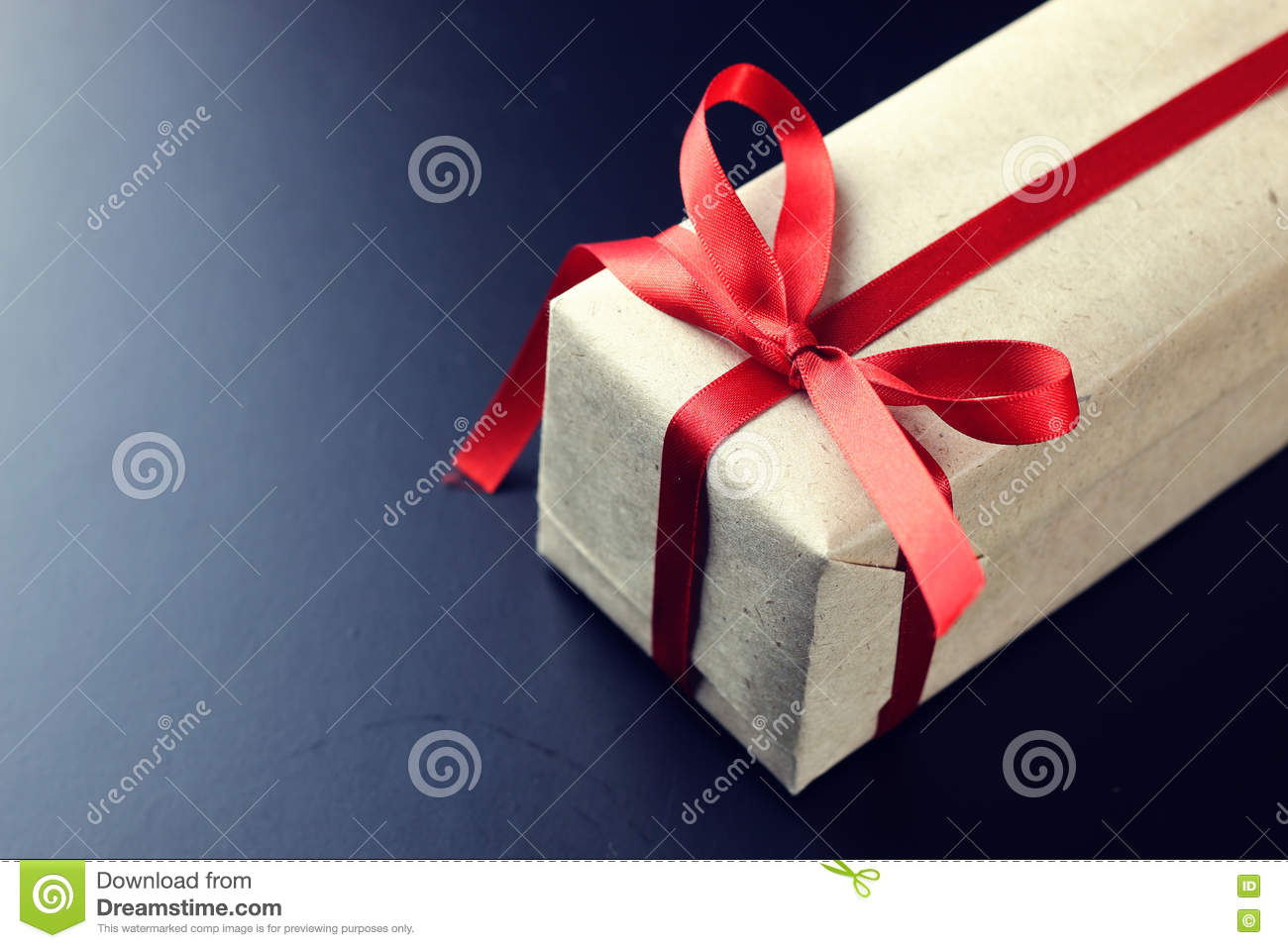 Gift Red Bow Black Background Stock Photo - Image of origami ...