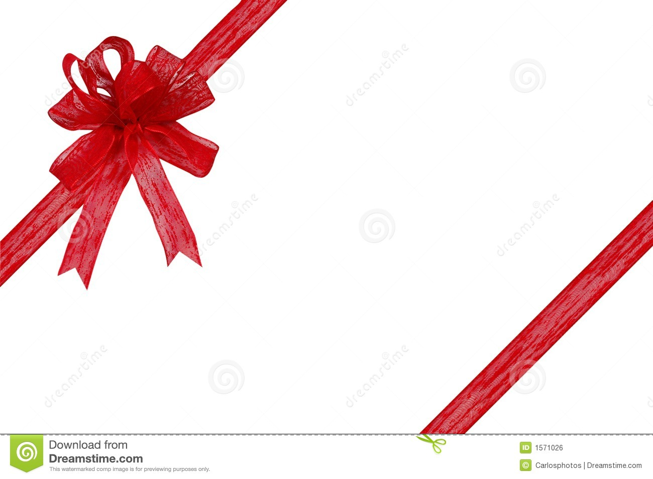 Gift Ribbon And Bow On A White Background Royalty Free