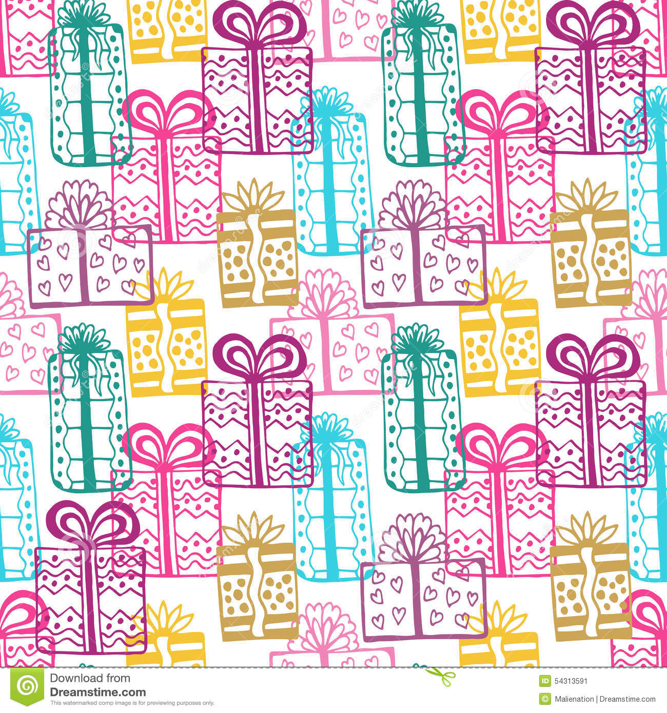 gift seamless pattern seamless happy birthday colorful pattern texture with gift box