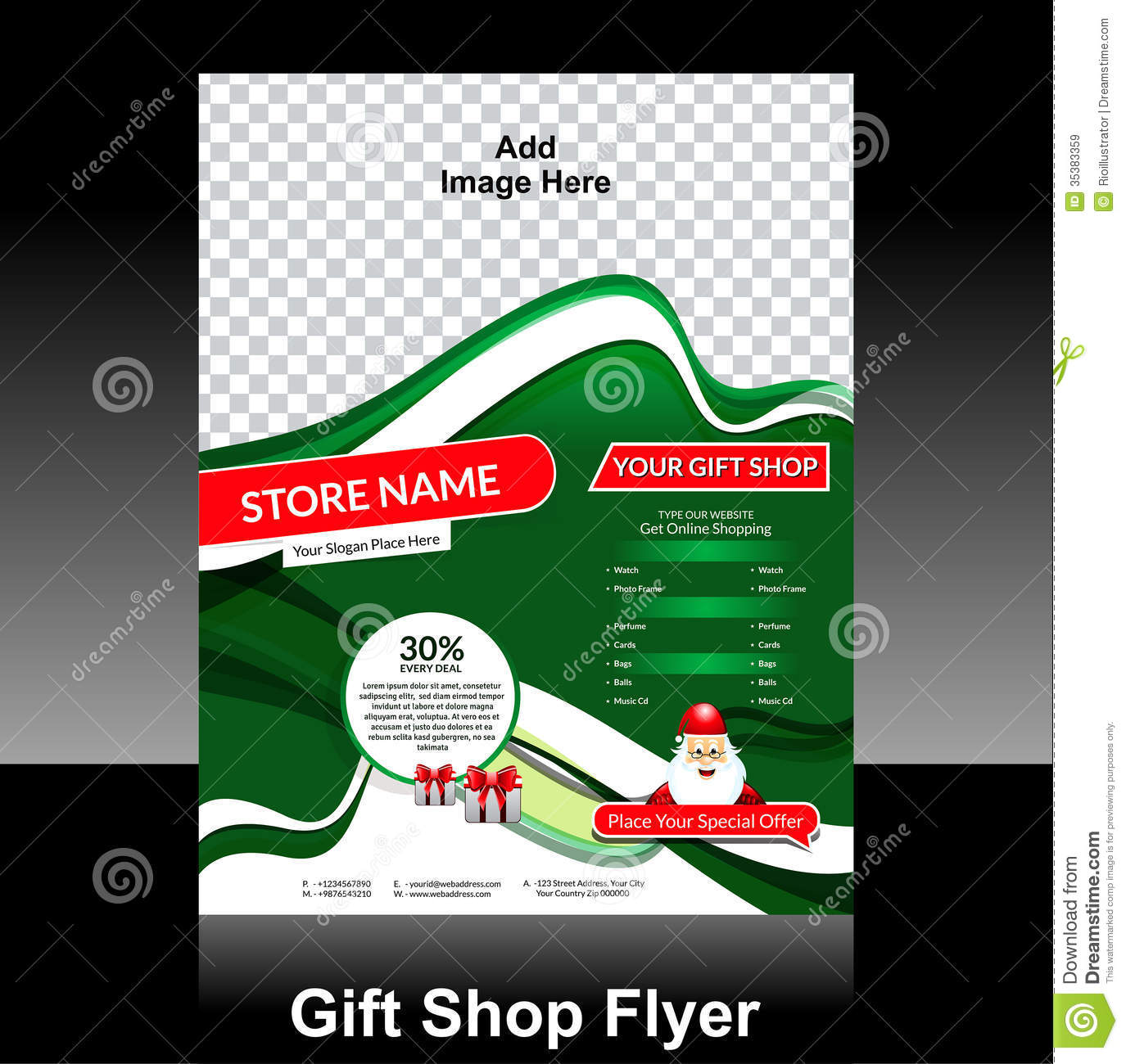 Gift Shop Flyer Design Royalty Free Stock Images - Image: 35383359