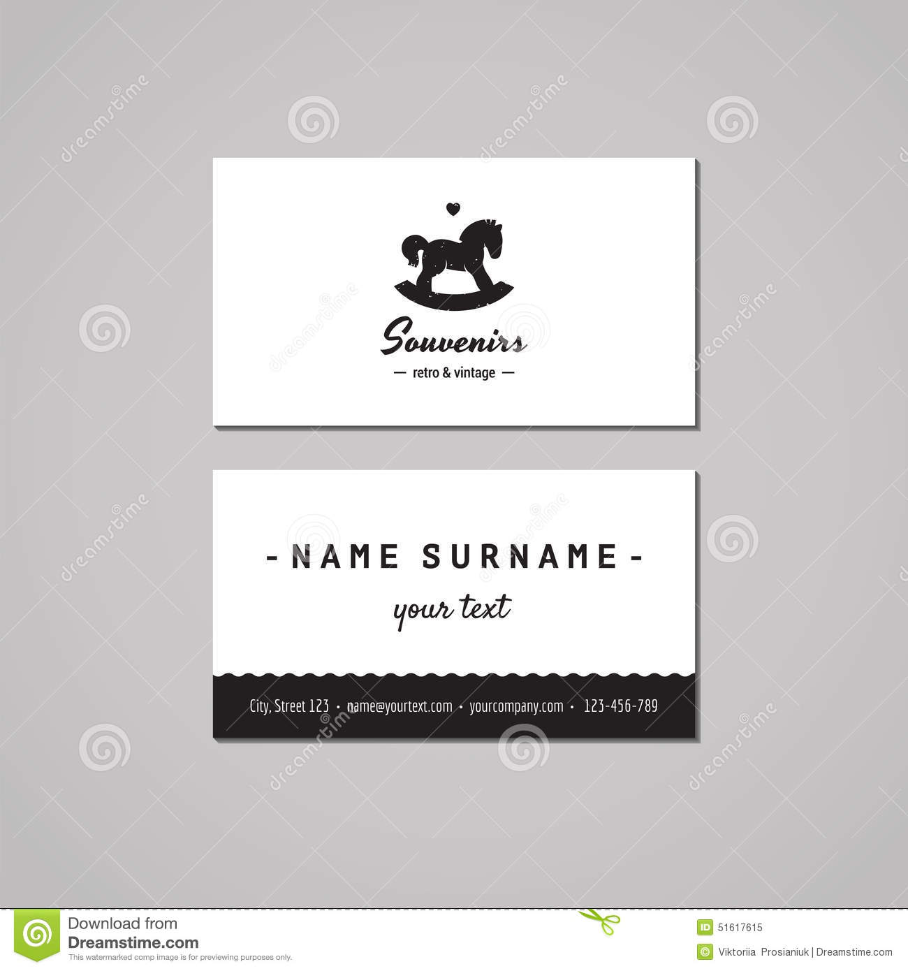 Gift Shop And Souvenirs Business Card Design Concept Gift