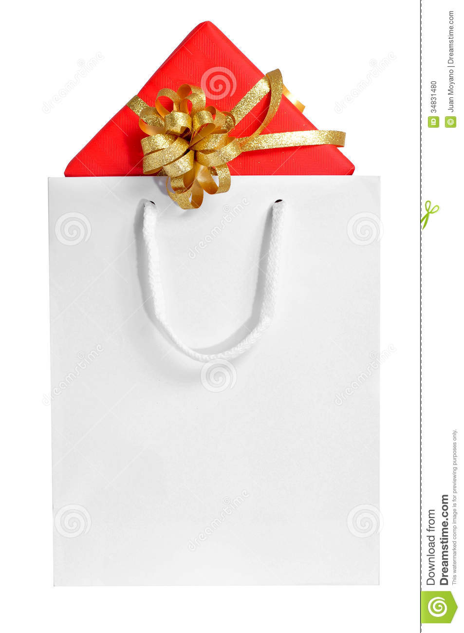 Gift In A Shopping Bag Stock Photo - Image: 34831480
